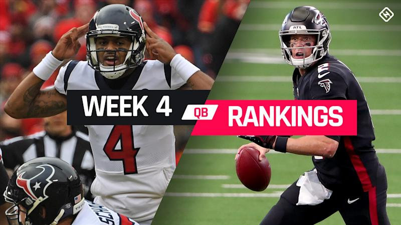 Week 4 Fantasy QB Rankings: Must-starts, sleepers, potential busts at quarterback