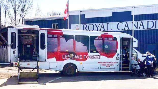 Thanks to donations from community members, the Windsor Senior Citizen Bus Society's Poppy Bus should be back on the road again in a couple of weeks. (Windsor Senior Citizen Bus Society - image credit)
