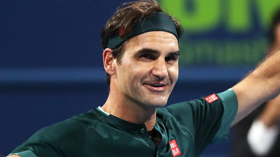Roger Federer is auctioning off memorabilia from his record 20 grand slam victories to raise money for his charity. (Photo by Mohamed Farag/Getty Images)