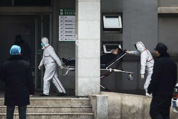 PHOTO: Medical staff transfer patients to Jin Yintan hospital on Jan. 17, 2020, in Wuhan, Hubei, China. (Getty Images)