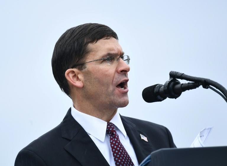 US Secretary of Defense Mark Esper is seen in September 2019