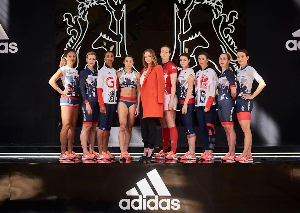 <p>Great Britain's team should be supercomfortable in these tracksuits and vibrant red sneakers. <i>(Photo: Getty Images)</i><br></p>