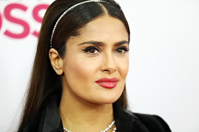"""Salma Hayek retracted her endorsement of """"American Dirt: after learning about the book's controversy. (Photo by Cindy Ord/FilmMagic)"""