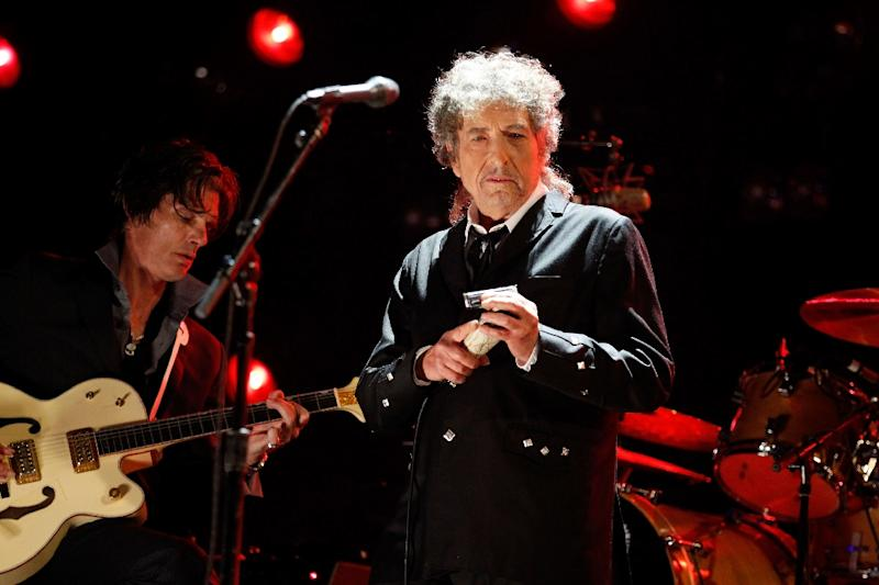 Bob Dylan, seen here in a file picture, was in Stockholm this weekend where he finally accepted his Nobel literature prize in a meeting with the Swedish Academy