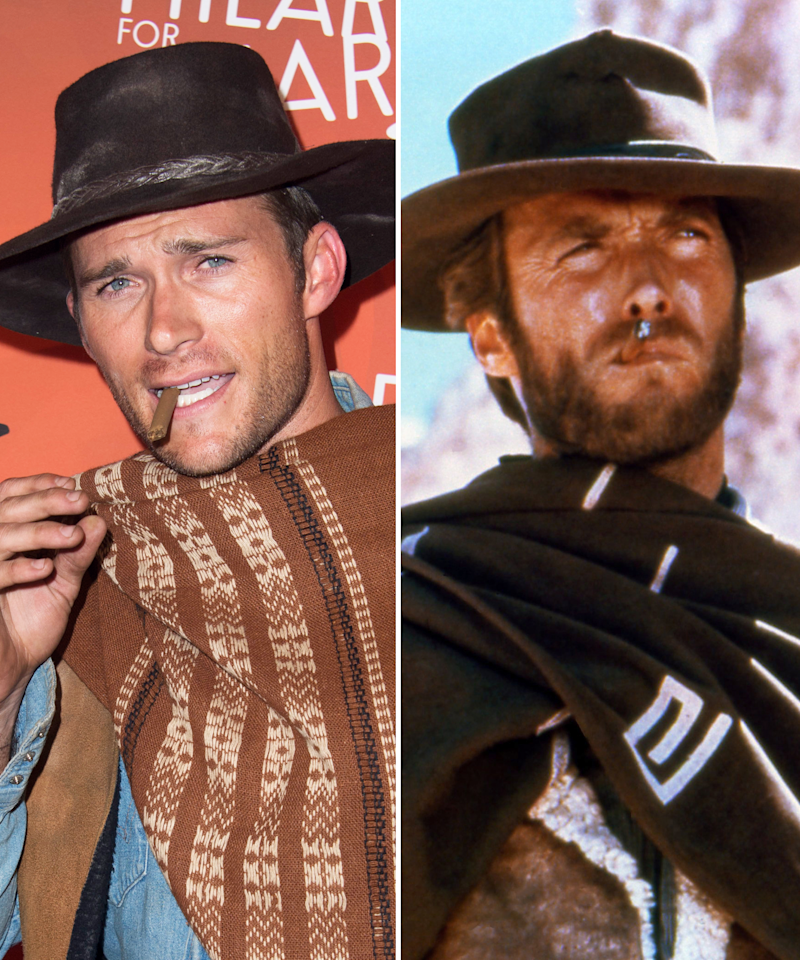 42cc3ae9451 Scott Eastwood Channels His Famous Dad Clint Eastwood in Epic Western  Costume for Charity Event