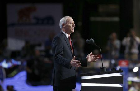 Governor Asa Hutchinson speaks at the Republican National Convention in Cleveland