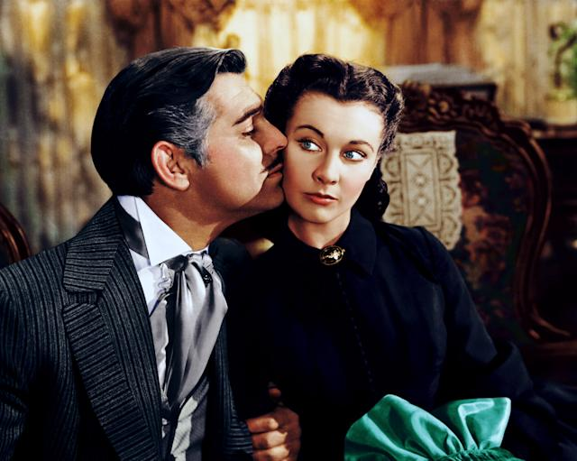 Clark Gable and Vivien Leigh in the 1939 Best Picture winner <em>Gone With the Wind</em> (Photo: Courtesy Everett Collection)