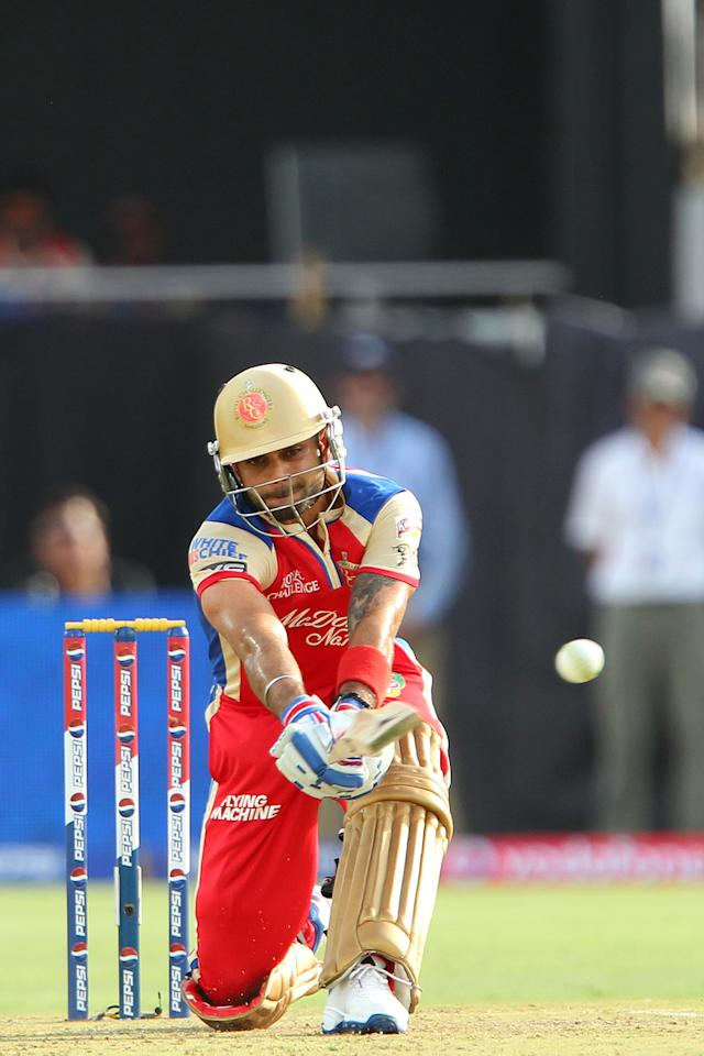 Virat Kohli during match 40 of the Pepsi Indian Premier League ( IPL) 2013  between The Rajasthan Royals and the Royal Challengers Bangalore held at the Sawai Mansingh Stadium in Jaipur on the 29th April 2013..Photo by Ron Gaunt-IPL-SPORTZPICS ..Use of this image is subject to the terms and conditions as outlined by the BCCI. These terms can be found by following this link:..https://ec.yimg.com/ec?url=http%3a%2f%2fwww.sportzpics.co.za%2fimage%2fI0000SoRagM2cIEc&t=1506042281&sig=6o2o7EW84gqMFNQrn2ZnuA--~D