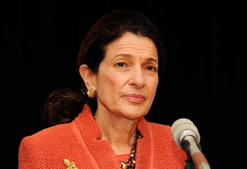 """<a href=""""http://www.senate.gov/artandhistory/history/common/briefing/women_senators.htm""""><strong>Served from:</strong></a> 1995-present Sen. Olympia Snowe (R-Maine) speaks at the 32nd Annual Women's Campaign Fund Parties of Your Choice Gala on April 2, 2012 in New York City. (Photo by Andrew H. Walker/Getty Images for Women's Campaign Fund)"""