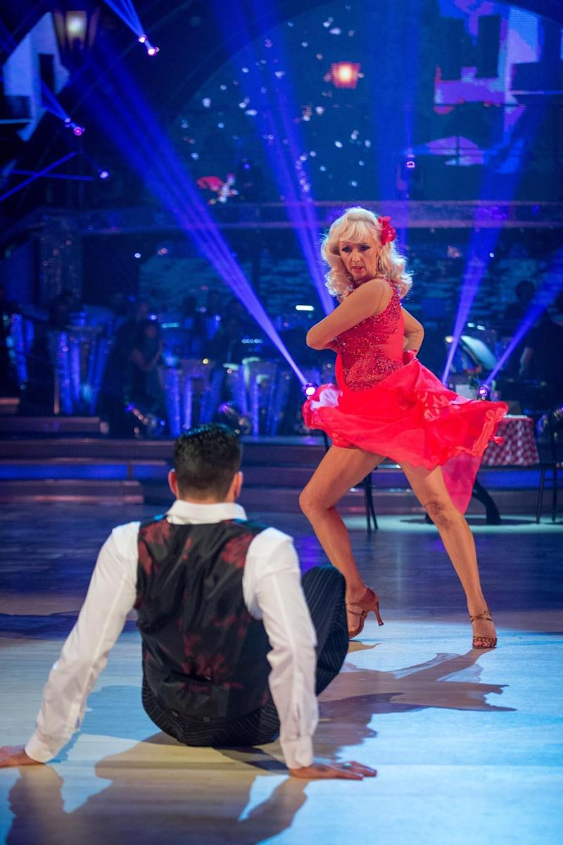 Favourite: Debbie McGee dancing the Paso Doble with Debbie McGee (BBC/Guy Levy)