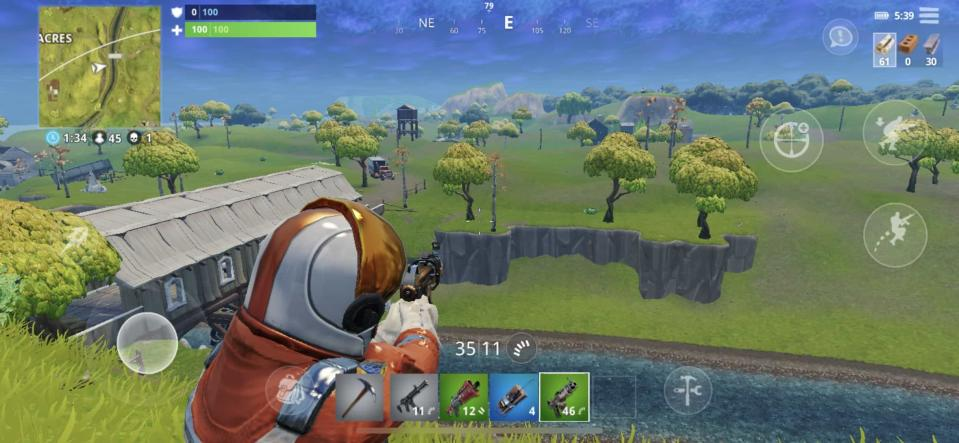 Fortnite's controls are tiny and clumsy on the phone, but people don't seem to care much.