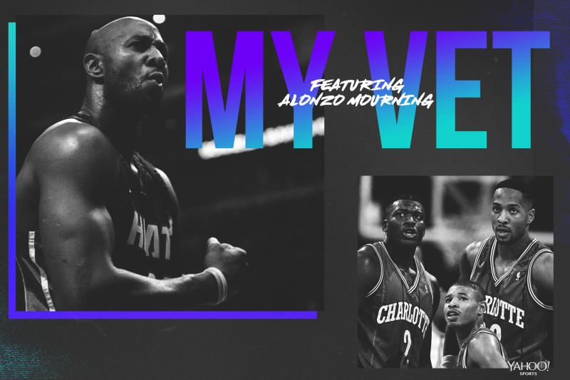 Alonzo Mourning counts Muggsy Bogues among his NBA influences. (Yahoo Sports graphics by Amber Matsumoto)