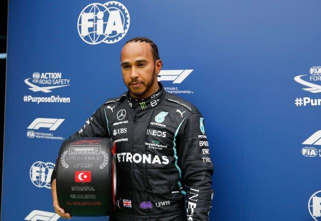Hamilton will have his work cut out to fight back through the field (Umit Bektas/AP)