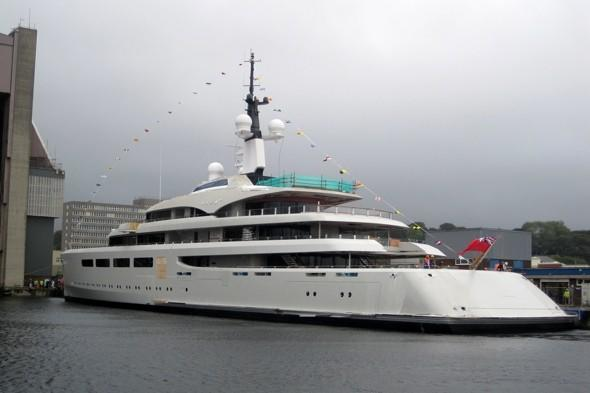 £100m yacht owned by Britain's richest woman sets sail for first time