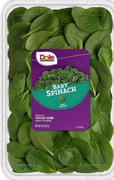 PHOTO: Dole Fresh Vegetables, Inc. is voluntarily recalling a limited number of cases of baby spinach. (Dole via FDA)