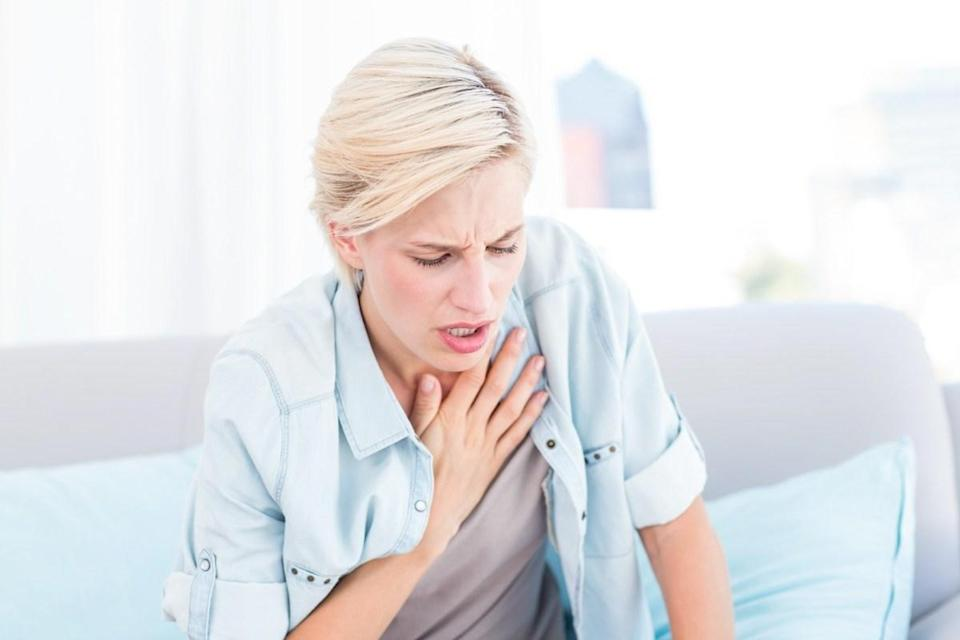 """This is always a sign of poor health, deconditioning, and the need to get in shape and better overall health, Brayer says. And, according to the <a href=""""https://www.mayoclinic.org/symptoms/shortness-of-breath/basics/causes/sym-20050890"""" rel=""""nofollow noopener"""" target=""""_blank"""" data-ylk=""""slk:Mayo Clinic"""" class=""""link rapid-noclick-resp"""">Mayo Clinic</a>, it could be a sign of something else, like asthma, pulmonary embolism, or cardiovascular problems. <a href=""""https://bestlifeonline.com/coronavirus-shortness-of-breath/?utm_source=yahoo-news&utm_medium=feed&utm_campaign=yahoo-feed"""" rel=""""nofollow noopener"""" target=""""_blank"""" data-ylk=""""slk:Shortness of breath"""" class=""""link rapid-noclick-resp"""">Shortness of breath</a> is also a commonly reported symptom of COVID-19. For more health facts that will keep you at your best, <a href=""""https://bestlifeonline.com/newsletters/?utm_source=yahoo-news&utm_medium=feed&utm_campaign=yahoo-feed"""" rel=""""nofollow noopener"""" target=""""_blank"""" data-ylk=""""slk:sign up for our daily newsletter"""" class=""""link rapid-noclick-resp"""">sign up for our daily newsletter</a>."""