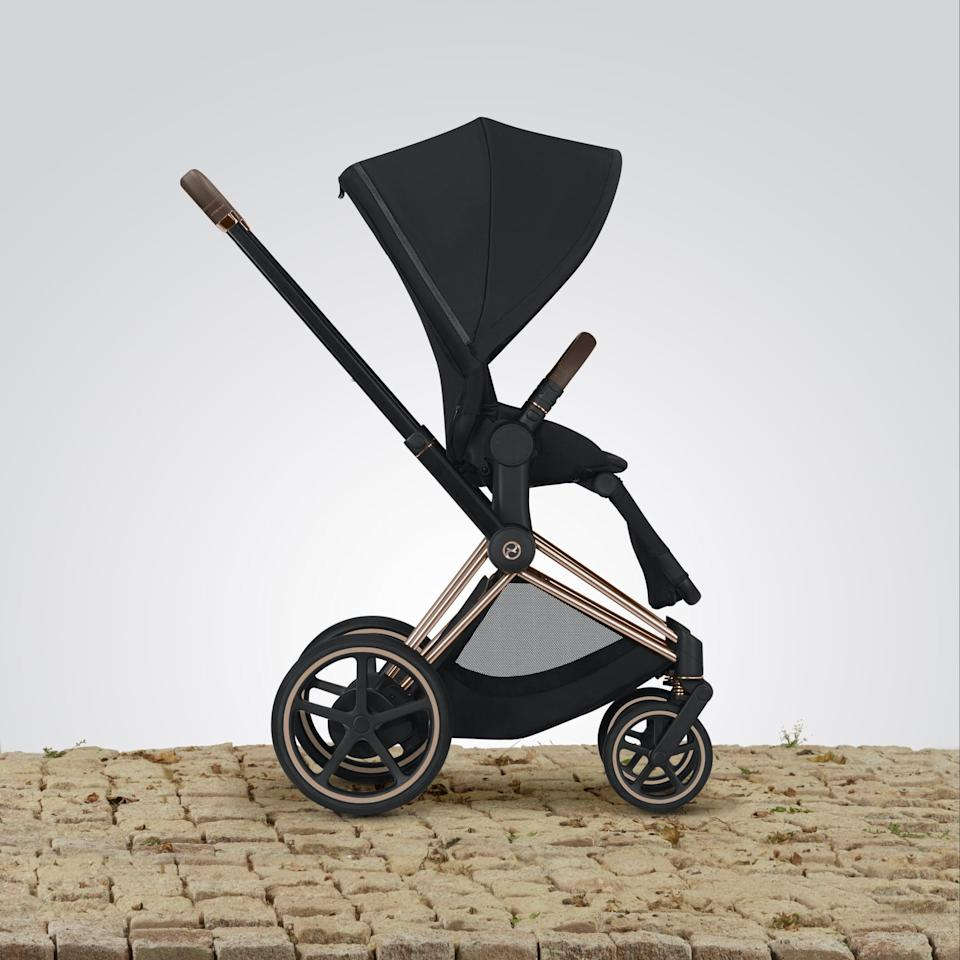<p>Welcome to the future, a time when you no longer have to struggle to get your stroller uphill or downhill or over uneven terrain while on long walks with your kiddo. The <span>Cybex e-PRIAM Stroller</span> ($1,000 - $1,700) is the first stroller of its kind, designed to make your life easier with its innovative technology. Within its handlebars are sensors that can detect the pressure of pushing, whether you're trying to get over a door threshold, up a steep hill, or over a root growing into the sidewalk. The motor in the back axle will activate to help you get over the obstacle smoothly. Conversely, to avoid rolling too quickly down a hill, the stroller will slow itself down. It's seriously awesome!</p>