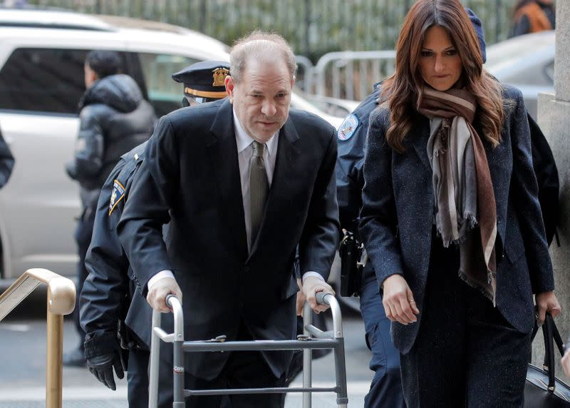 Film producer Harvey Weinstein arrives at New York Criminal Court for his sexual assault trial in New York