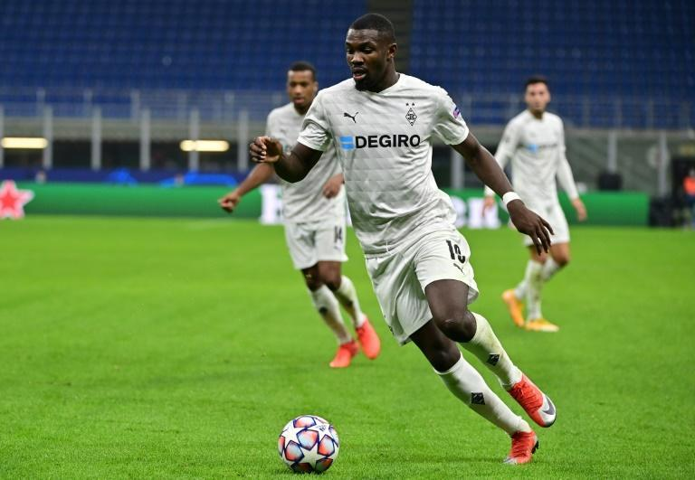 Moenchengladbach's French forward Marcus Thuram has won penalties in his last four matches