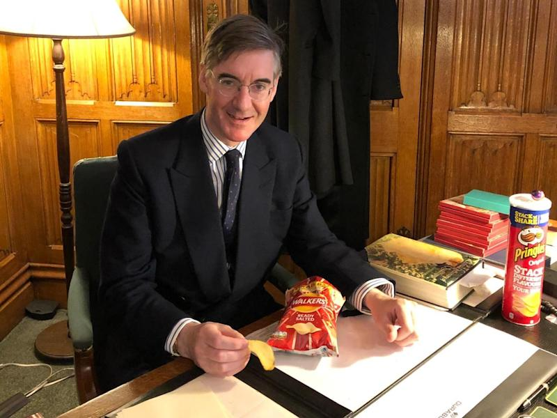 Conservative MP Jacob Rees-Mogg tweeted he was a 'Walker's crisps man or Pringles': Jacob Rees-Mogg