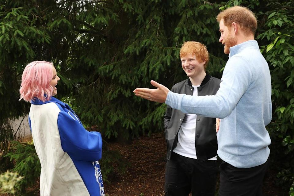The Duke of Sussex, Ed Sheeran and Anne-Marie at the WellChild Awards