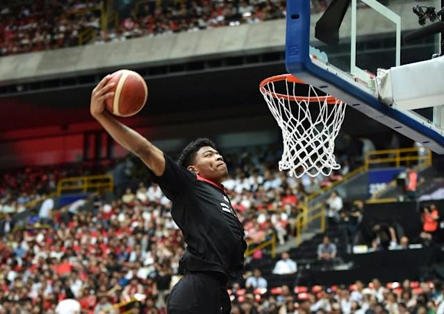 Japan's Rui Hachimura says he has learned to feel proud about being biracial. (AFP Photo/Kazuhiro NOGI)