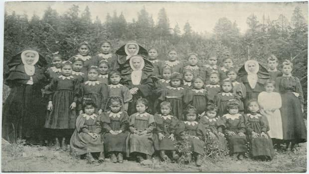 St. Joseph's Mission residential school, located near the core of the Williams Lake First Nation community, was torn down 26 years ago, but left a painful legacy for survivors and their families.  (Indian Residential School Resources - image credit)