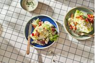 """<p>Garlicky blue cheese dressing takes this wedge over the edge.</p><p>Get the recipe from <a href=""""https://www.delish.com/cooking/recipe-ideas/a35257243/wedge-salad-recipe/"""" rel=""""nofollow noopener"""" target=""""_blank"""" data-ylk=""""slk:Delish"""" class=""""link rapid-noclick-resp"""">Delish</a>.</p>"""