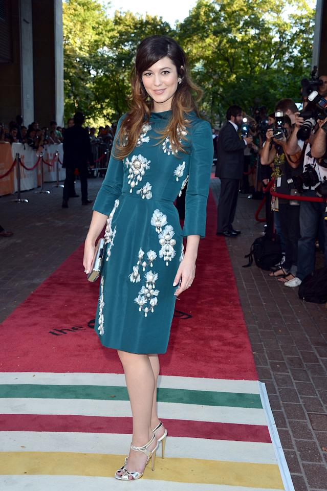 """BEST: After the <a target=""""_blank"""" href=""""http://ca.movies.yahoo.com/photos/tiff-2012-best-and-worst-dressed-slideshow/mary-elizabeth-winstead-photo-1347465380.html"""">eyesore of a dress</a> she wore earlier this week, Mary Elizabeth Winstead is an absolute knockout at the premiere of """"Smashed,"""" for which she's already<a target=""""_blank"""" href=""""http://ca.movies.yahoo.com/blogs/wide-screen/tiff-2012-sundance-hit-smashed-gets-winstead-noticed-194849574.html""""> receiving Oscar buzz</a>. The dress' hue perfectly complements Winstead's brown locks, and the pearl detailing takes the outfit from good to great. If Winstead does get an Oscar nod, we can't wait to see what she'll wear to the ceremony."""