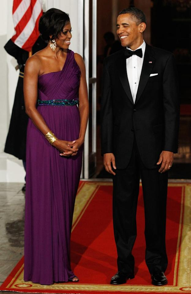 <p>Michelle Obama wearing Korean designer Doo-Ri Chung, 2013. (Photo: Getty Images)</p>