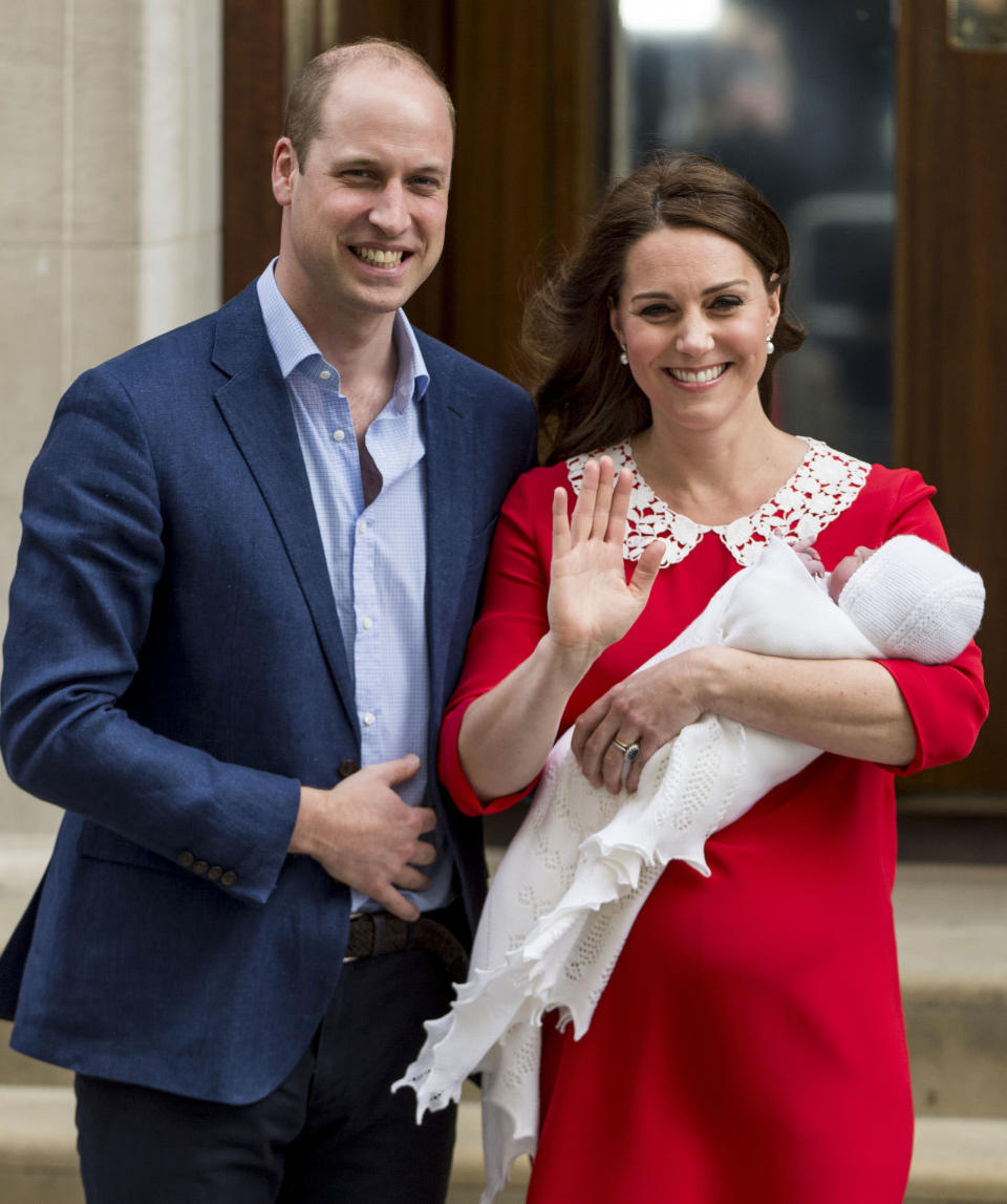 Prince William and his son Louis both have Arthur as one of their middle names. Photo: Getty Images