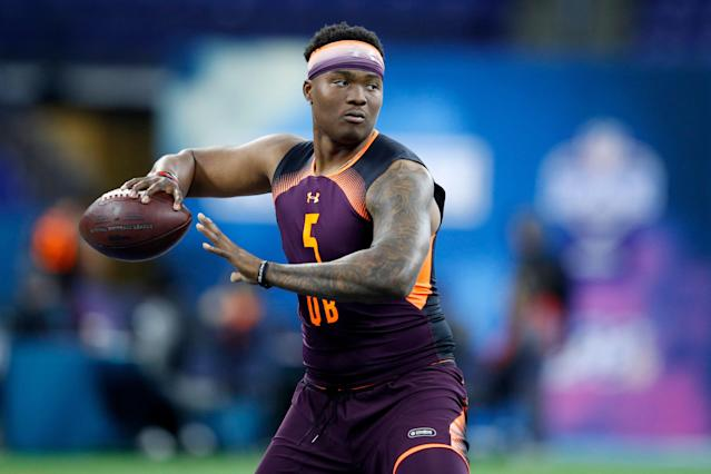 Dwayne Haskins has been widely linked to the Giants. (Getty Images)