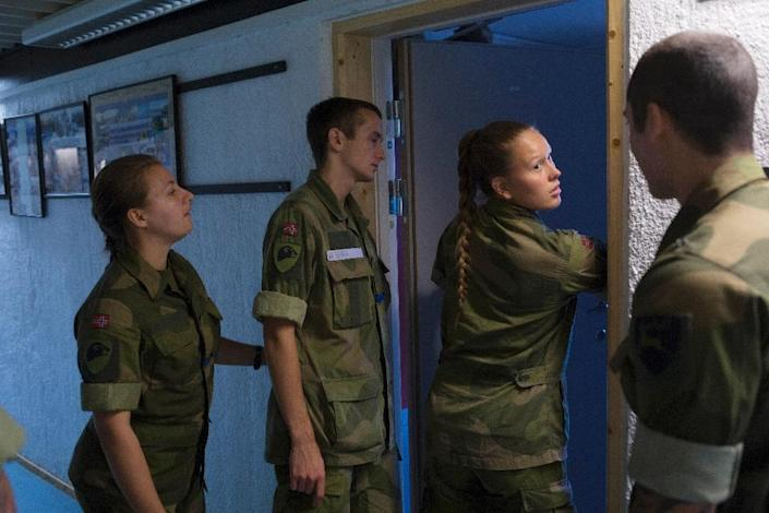 Norway's military bunks women in mixed dorms with their male counterparts (AFP Photo/Kyrre Lien)