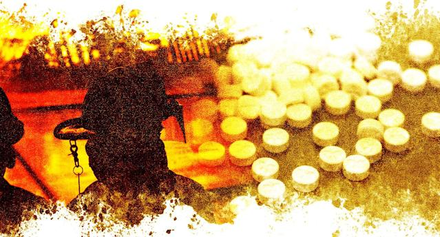 MDMA has been shown to help firefighters, cops and military veterans struggling with post-traumatic stress disorder. The phase 3 clinical trials for MDMA-assisted therapy are beginning this summer. (Photo illustration: Yahoo News; photos: Getty Images)