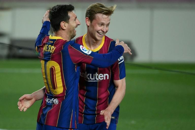 De Jong with Lionel Messi - De Jong was Barcelona's most-used player in the season just finished