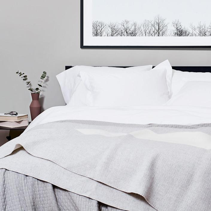"<h3>Snowe Home</h3><br><strong>Deal: 10% off first orders, plus 10% off Slate Blue products</strong><br><strong>Code: Provided with email signup</strong>, <strong>WINTERBLUES10</strong><br><br>This simple but stylish brand boasts a lineup of home essentials spanning from premium kitchenware to stone-washed linen bedding and <a href=""https://snowehome.com/products/classic-terry-bathrobe"" rel=""nofollow noopener"" target=""_blank"" data-ylk=""slk:plush bath pieces"" class=""link rapid-noclick-resp"">plush bath pieces</a> that all comes Oeko-Tex certified (i.e. tested-for and ensured free-of harmful chemical treatments, like pesticides or lead), packaged in 100%-recycled cardboard, and produced in factories with the highest commitments to social and environmental standards — Snowe's eco-company outlook is that ""avoiding dangerous chemicals on our textiles means pouring less chemicals into factories and back into the environment.""<br><br><em>Shop <strong><a href=""https://snowehome.com/"" rel=""nofollow noopener"" target=""_blank"" data-ylk=""slk:Snowe Home"" class=""link rapid-noclick-resp"">Snowe Home</a></strong></em><br><br><strong>Snowe</strong> Percale Sheet Set, $, available at <a href=""https://go.skimresources.com/?id=30283X879131&url=https%3A%2F%2Fsnowehome.com%2Fproducts%2Fsheet-set"" rel=""nofollow noopener"" target=""_blank"" data-ylk=""slk:Snowe"" class=""link rapid-noclick-resp"">Snowe</a>"