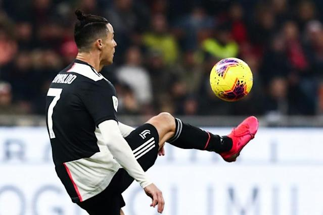 Cristiano Ronaldo can equal the Serie A record for scoring in 11 consecutive games (AFP Photo/Isabella BONOTTO)