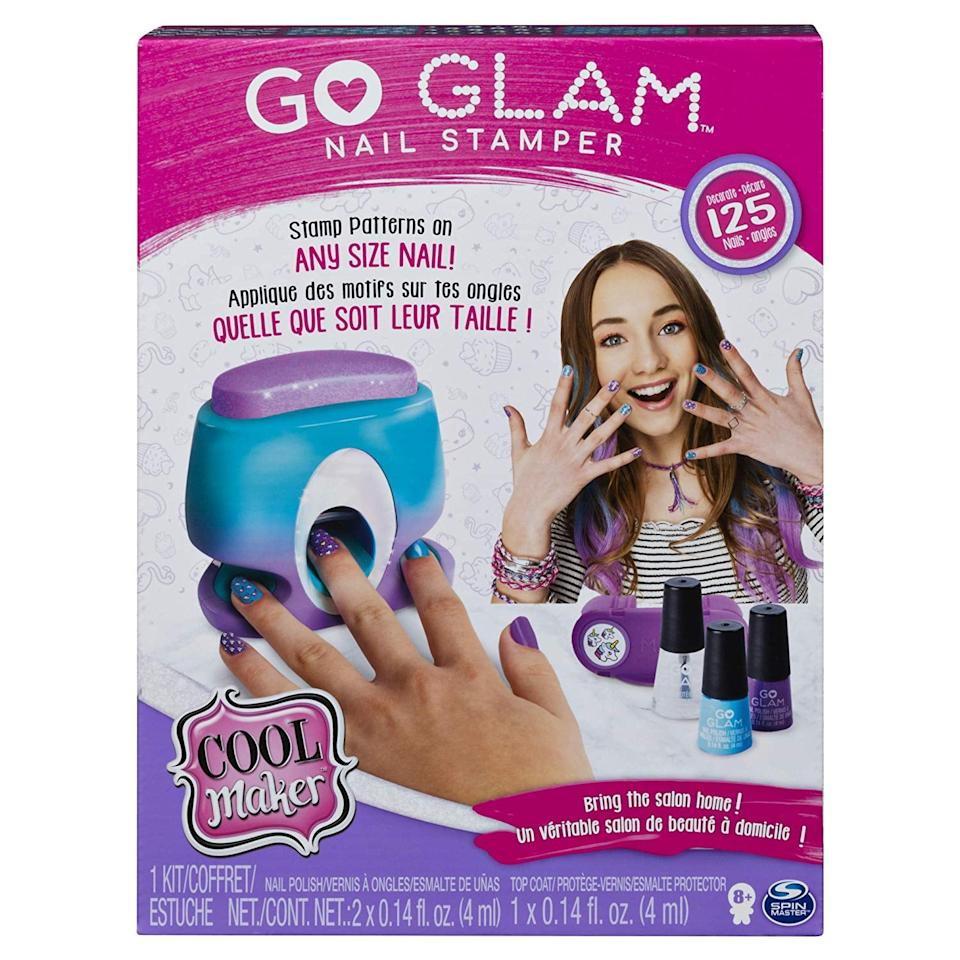 """<p><a href=""""https://www.popsugar.com/buy/Cool-Maker-GO-Glam-Nail-Stamper-488353?p_name=Cool%20Maker%2C%20GO%20Glam%20Nail%20Stamper&retailer=amazon.com&pid=488353&price=21&evar1=moms%3Aus&evar9=45628578&evar98=https%3A%2F%2Fwww.popsugar.com%2Ffamily%2Fphoto-gallery%2F45628578%2Fimage%2F46614720%2FCool-Maker-GO-Glam-Nail-Stamper&list1=amazon%2Ctoys%2Cgifts%20for%20kids%2Cgifts%20for%20toddlers%2Cbest%20of%202019&prop13=mobile&pdata=1"""" rel=""""nofollow"""" data-shoppable-link=""""1"""" target=""""_blank"""" class=""""ga-track"""" data-ga-category=""""Related"""" data-ga-label=""""https://www.amazon.com/dp/B07PHTWLNJ/ref=cm_gf_aht_iaaa_d_p0_c0_qd3__________________VSsMUi4vgJjDyhSSXoNF"""" data-ga-action=""""In-Line Links"""">Cool Maker, GO Glam Nail Stamper</a> ($21)</p>"""
