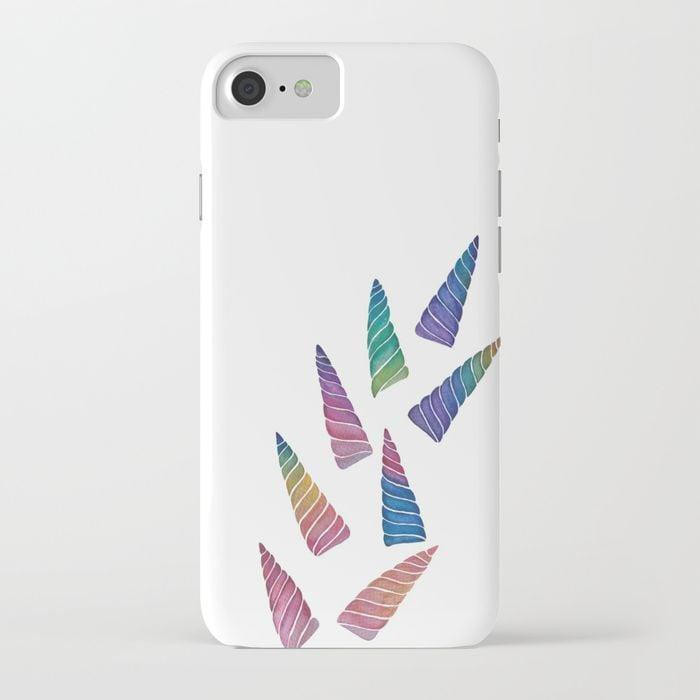 <p>Keep your phone looking sleek with this <span>AizaC Rainbow Unicorn Horns iPhone Case</span> ($29, originally $36).</p>