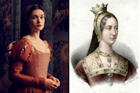 """<p>One fresh face in season two of the series is Henry VIII's younger sister, Princess Mary. <a href=""""https://www.townandcountrymag.com/leisure/arts-and-culture/a33996480/spanish-princess-season-2-cast-photos/"""" rel=""""nofollow noopener"""" target=""""_blank"""" data-ylk=""""slk:Per co-shorunner Matthew Graham,"""" class=""""link rapid-noclick-resp"""">Per co-shorunner Matthew Graham,</a> it's been said """"that she could be giddy in seven languages.""""</p><p>""""It's a lovely insight,"""" he says. """"She's seemingly a little bit ditsy and a little bit of a party girl and a bit of an """"it"""" girl, but actually she's incredibly smart and incredibly clever.""""</p>"""