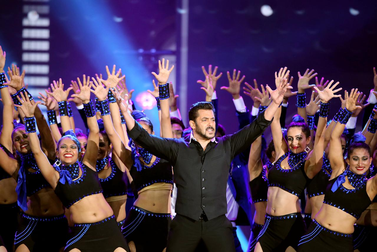 Actor Salman Khan performs at the International Indian Film Academy Awards (IIFA) show at MetLife Stadium in East Rutherford, New Jersey, U.S., July 16, 2017. REUTERS/Joe Penney