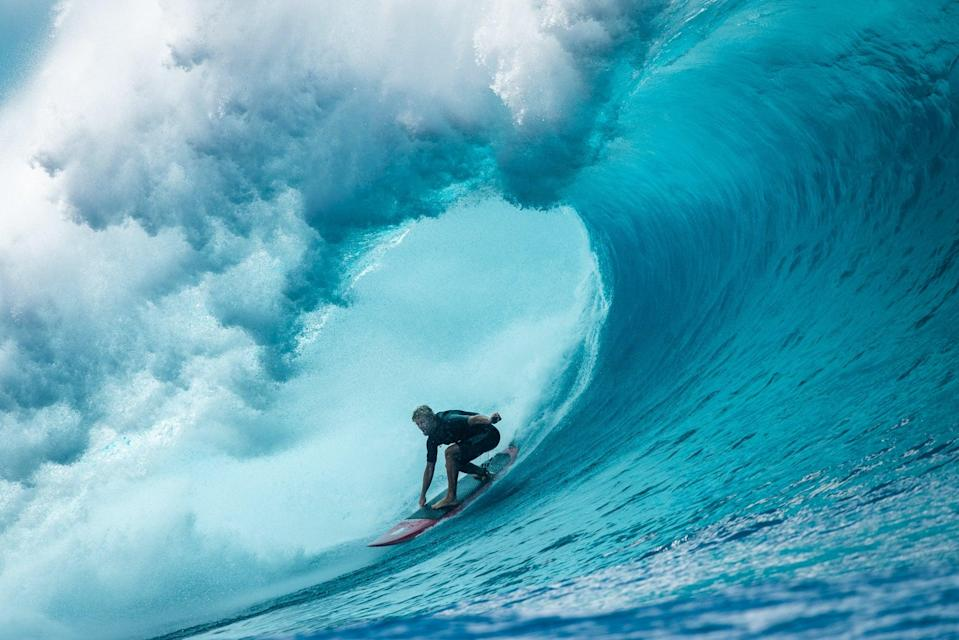 <p>John John Florence, a world-champion surfer from Oahu, Hawaii, will represent the US in the 2021 Olympics, surfing's debut at the Games.</p> (Courtesy of John John Florence / Parallel Sea Productions)