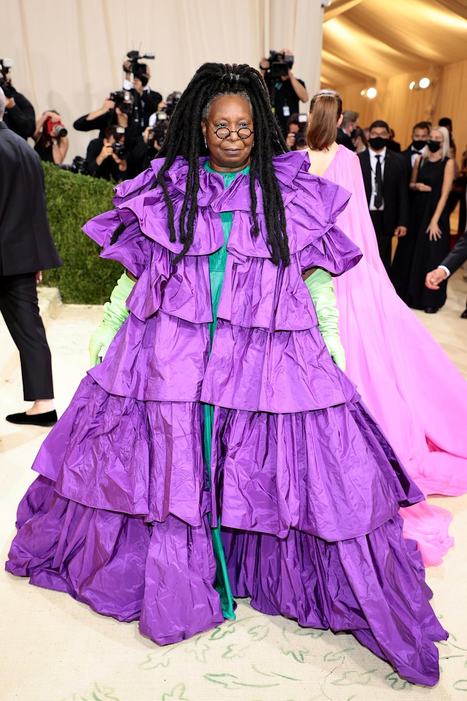 Whoopi Goldberg attends The 2021 Met Gala Celebrating In America: A Lexicon Of Fashion at Metropolitan Museum of Art on September 13, 2021 in New York City. (Getty Images)
