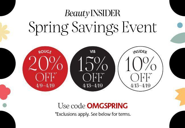 Sephora Beauty Insiders can shop and save beginning as early as April 9. Image via Sephora.