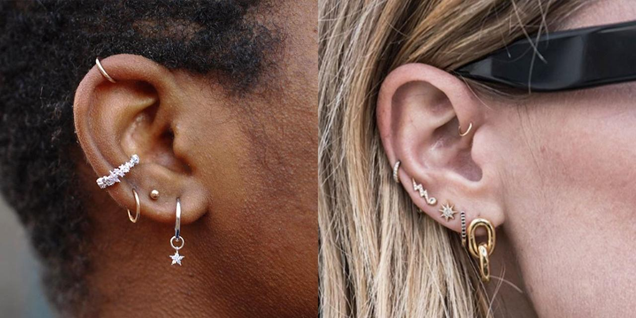 """<p>If you've scrolled through Instagram in the last, IDK, three months, you're well aware that <a href=""""https://www.cosmopolitan.com/style-beauty/fashion/a6964435/constellation-ear-piercing-trend/"""" target=""""_blank"""">ear piercings</a> are having a <em>moment</em>. Like, it seems everyone collectively agreed that those basic-ass piercings you got at the mall in 7th grade are now a thing of the past, and they've now been replaced with <strong>the curated ear: ultra-cool, ~edgy~ piercings that are tailored to your individual vibes.</strong> </p><p>I'm talking minimalist, stacked hoops on your <a href=""""https://en.wikipedia.org/wiki/Helix_piercing"""" target=""""_blank"""">helix</a> and little clusters of studs on your lobes—basically, <strong>all the bling you stacked on your fingers last summer have now migrated up to your ears for summer 2019.</strong> And because every single human on Instagram is about to get in on the trend, I rounded up 20 truly pretty ear piercing ideas to help you get inspired fast. Trust me when I say these piercings are so good, you'll want to book an appointment immediately (even if you're deathly afraid of needles *raises hand*).<em></em></p>"""