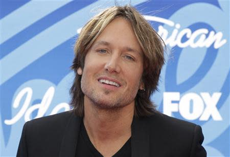 """American Idol judge and country music star Keith Urban arrives at the Season 12 finale of """"American Idol"""" in Los Angeles"""