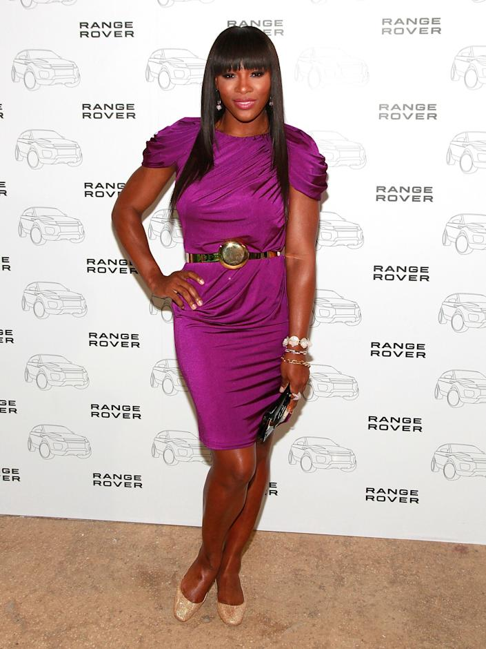 NEW YORK, NY - APRIL 19: Professional tennis player Serena Williams attends the 2012 Range Rover Evoque New York City debut at Highline Stages on April 19, 2011 in New York City. (Photo by Charles Eshelman/FilmMagic)