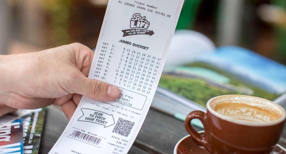 A Five Dock man now believes premonitions do come true after he won the first prize of $20,000 a month for 20 years in the latest Set for Life draw. Image: Supplied