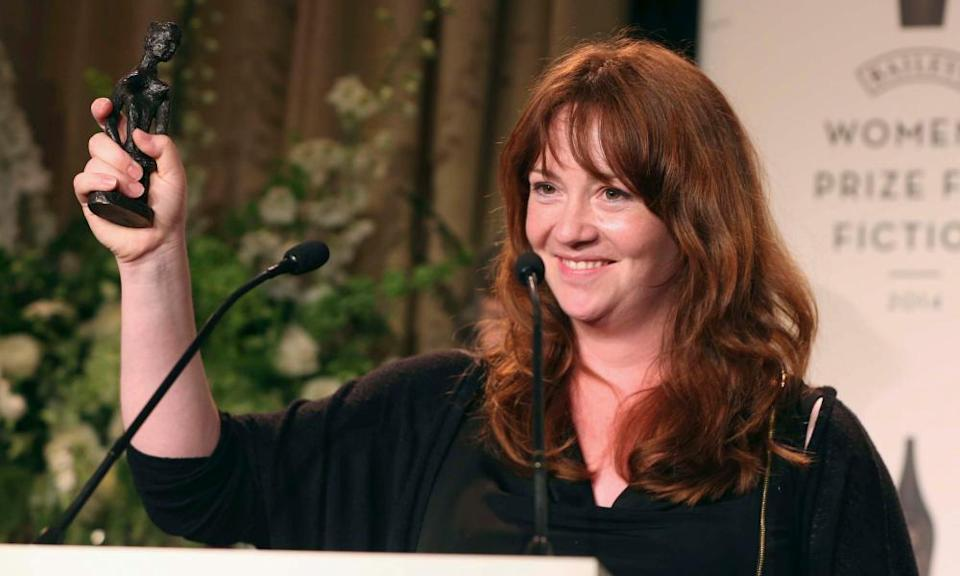 McBride receiving the Women's prize for fiction for A Girl is a Half-Formed Thing in 2014.