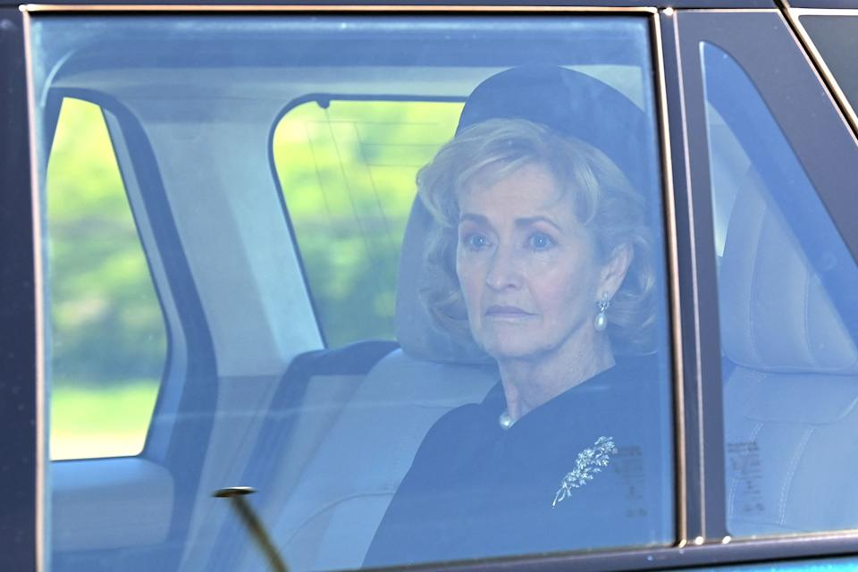 Penny Brabourne, Countess Mountbatten of Burma at Prince Philip's funeral